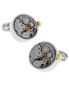 Gemelos Silver and Gold Watch Movement