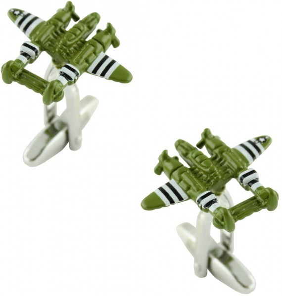 Military Seaplane Cufflinks