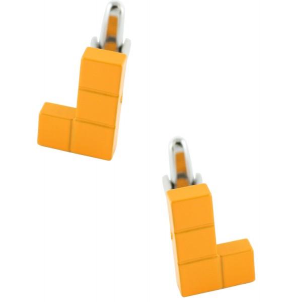 Orange Tetris Block Cufflinks