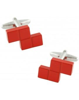 Red Tetris Block Cufflinks