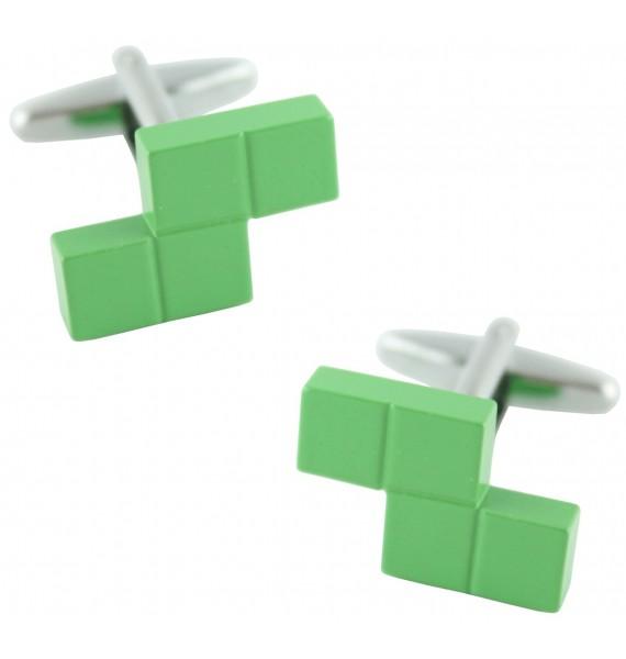Green Tetris Block Cufflinks