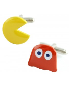 Pac-Man and Blinky Cufflinks