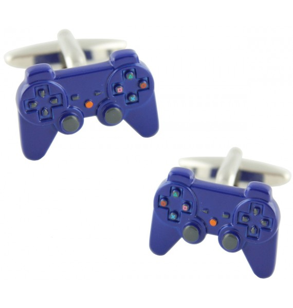 Blue PlayStation Controller Cufflinks