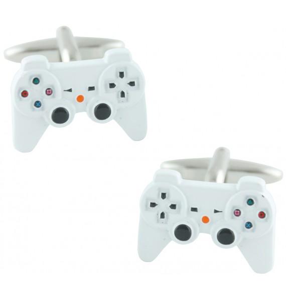 White PlayStation Controller Cufflinks