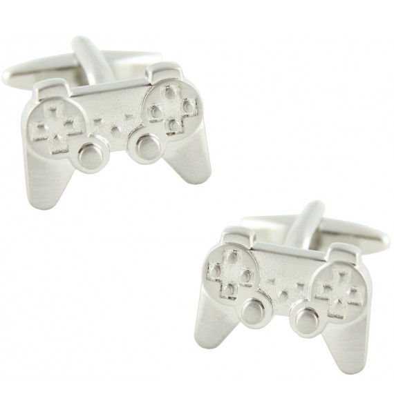 Silver Plated PlayStation Controller Cufflinks