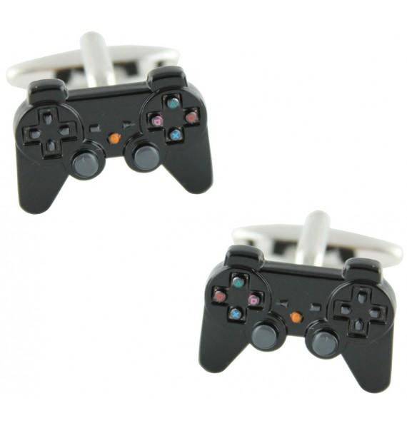Black PlayStation Controller Cufflinks