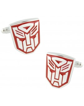 Red Autobots Logo Cufflinks