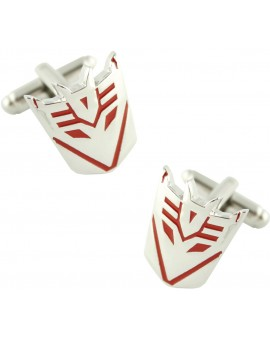 Red Decepticons Logo Cufflinks