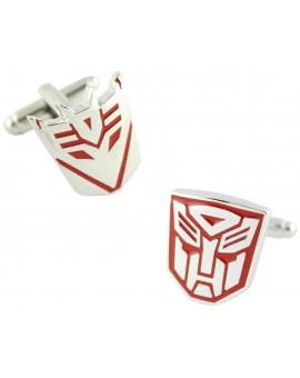 Gemelos Transformers Autobots y Decepticons Rojo