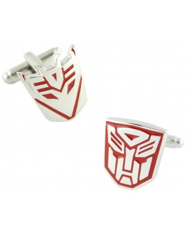 Red Autobots and Decepticons Logo Cufflinks