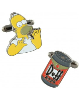 Homer and Duff Beer Cufflinks