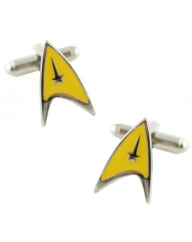 Yellow Star Trek Cufflinks