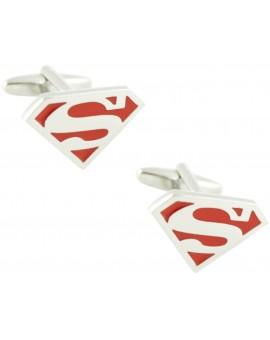 Red Superman Shield Cufflinks