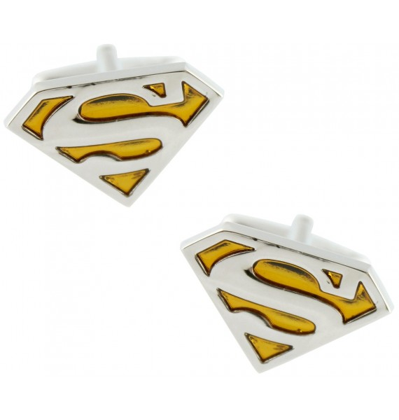 Yellow Superman Shield Cufflinks