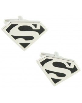 Black Superman Shield Cufflinks
