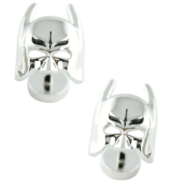 Silver Plated Batman Mask Cufflinks