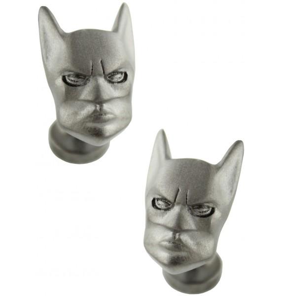 3D Matte Black Batman Head Cufflinks
