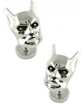 Gemelos Cabeza Batman 3D Plateado