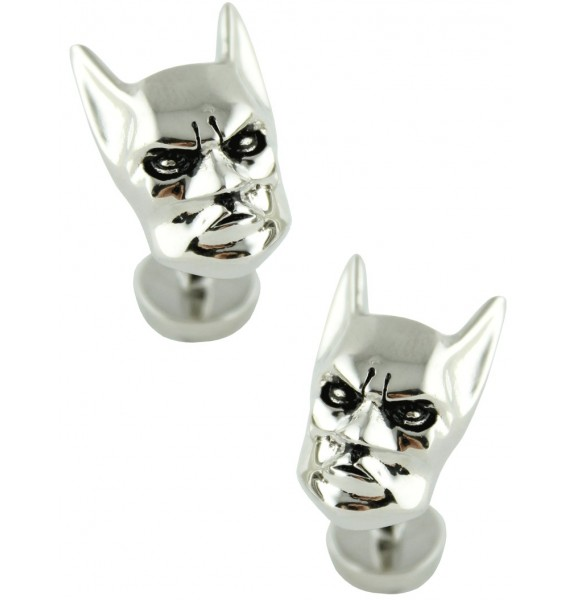 3D Silver Plated Batman Head Cufflinks
