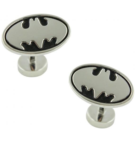 3D Silver Batman Cufflinks