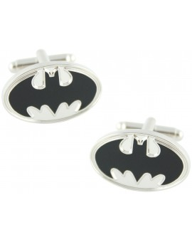 Silver Batman Shield Cufflinks
