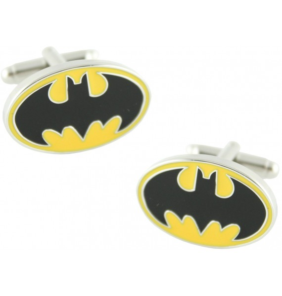 Yellow Batman Shield Cufflinks