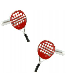 Red Paddle Racket Cufflinks
