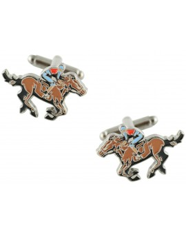 Brown Jockey Cufflinks