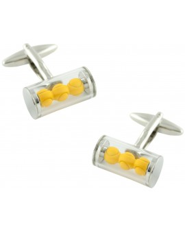 Tennis Ball Sleeve Cufflinks