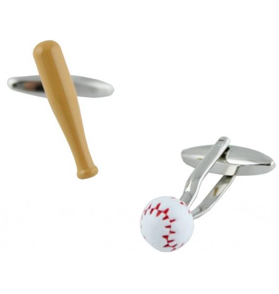 Baseball Bat and Ball Cufflinks