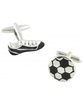 Gemelos Bota y Balón de Fútbol