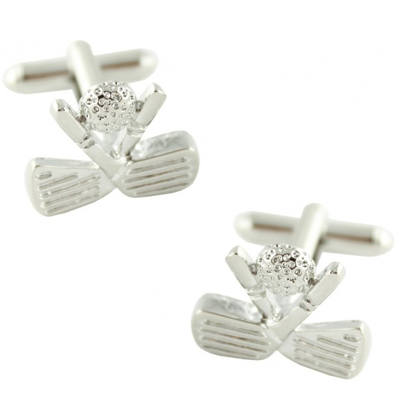 Crossed Clubs Cufflinks
