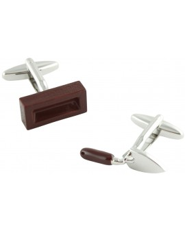 Putty Knife and Brick Cufflinks