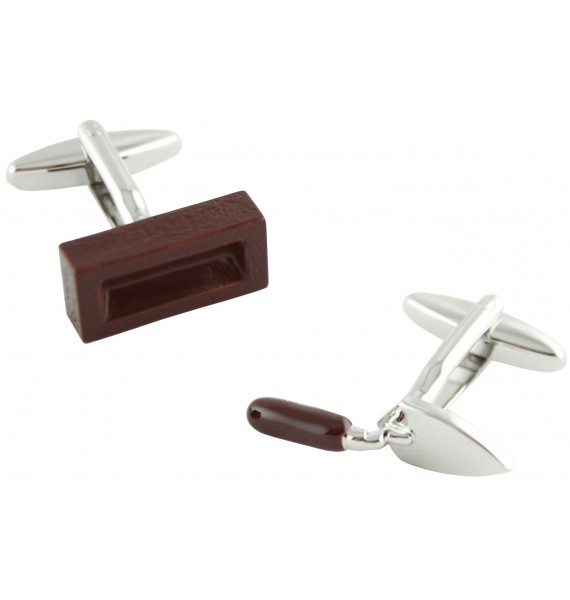 Putty Knife and Brick Cufflinks