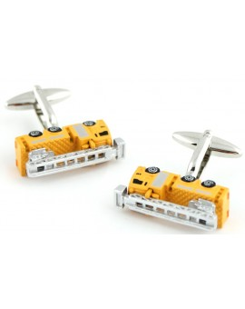 Yellow Fire Truck Cufflinks
