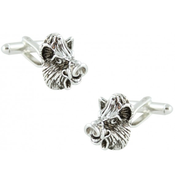 Wild Boar Head Cufflinks