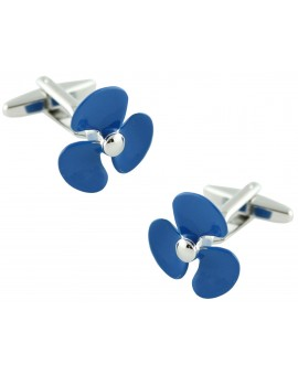 Blue Boat Propeller Cufflinks