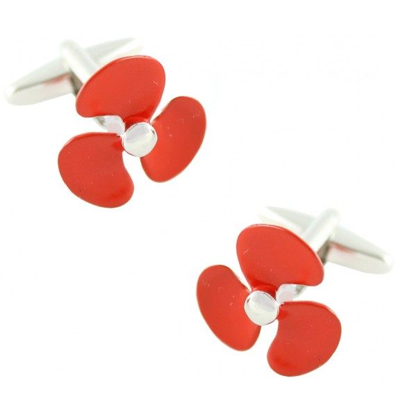 Red Boat Propeller Cufflinks