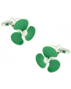 Green Boat Propeller Cufflinks