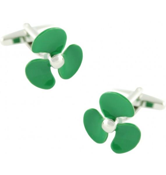 Green Boat Propeller Cufflinks