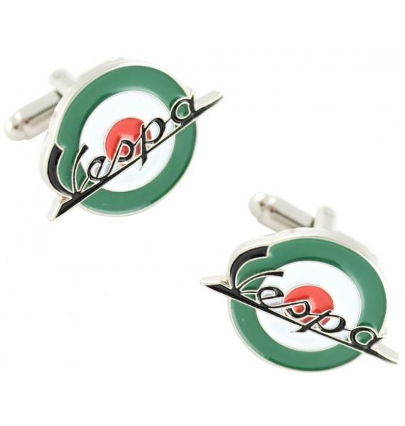 Green Mod Vespa Cufflinks