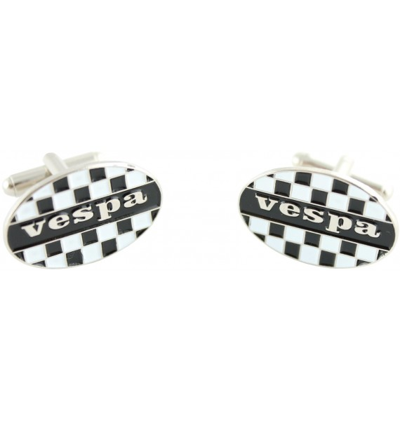 Vespa Checkered Flag Cufflinks