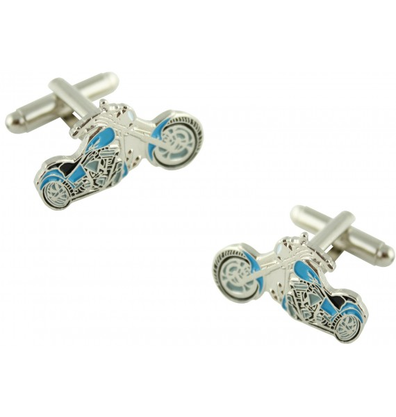 Blue Harley Cufflinks