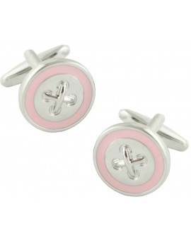 Pink Line Button Cufflinks