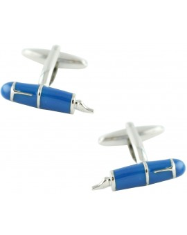 Blue Pen Cufflinks