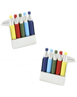 Colours Pencils Cufflinks