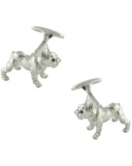 3D Bulldog Cufflinks
