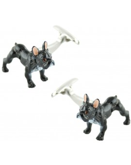 3D Black Bulldog Cufflinks