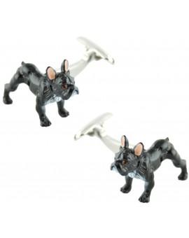 Gemelos Bulldog 3D Negro