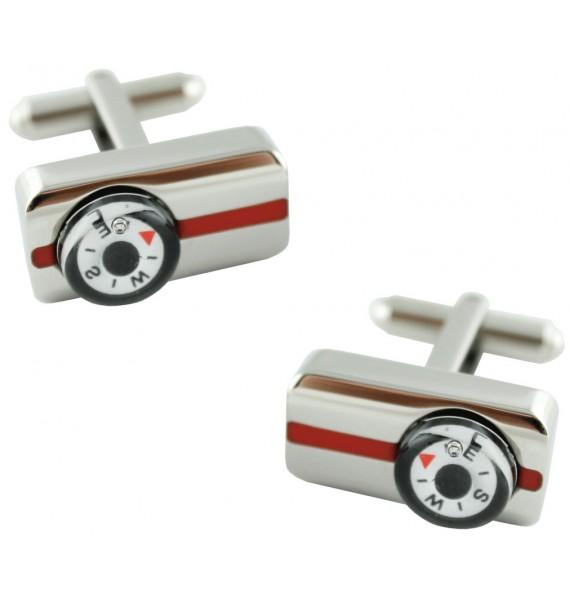 Rectangular Compass Cufflinks